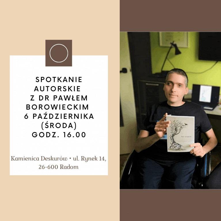"""Spotkanie autorskie """"Samotność osób z niepełnosprawnością ruchową"""""""